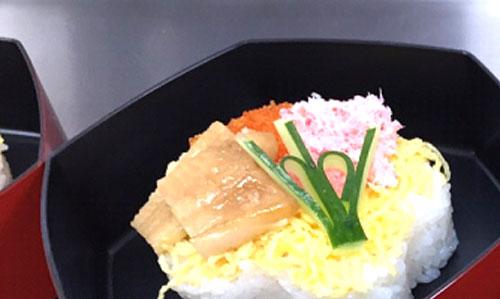 給食委託サービスでチラシ寿司